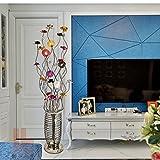 . Lampadaire, Multicolore Rurale Décoration Personnalité Mode Salon Chambre à coucher Lampe de chevet (Edition : Foot switch)