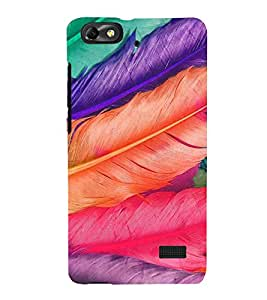 Colourful Feathers 3D Hard Polycarbonate Designer Back Case Cover for Huawei Honor 4C :: Huawei G Play Mini