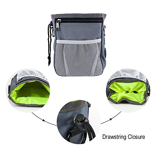 945dd101e1f1 HANWELL Dog Treat Bag with Built-In Poop Bags Dispenser, Puppy Pet Training  Walking Pouch with Adjustable Waist Belt & Shoulder Strap, Hands Free ...