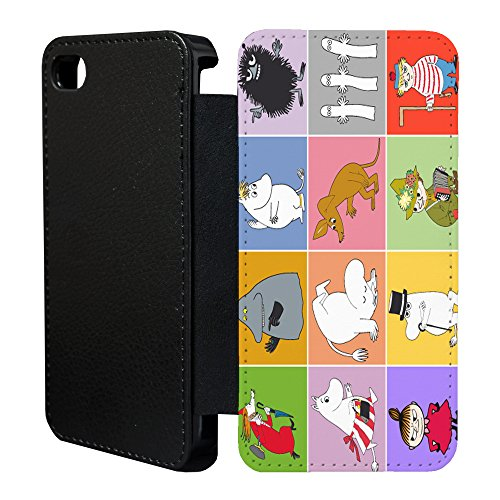 Mumins Cartoon Flip Case Cover Für Apple iPhone 6 Plus & 6S Plus – 41 A1333 - Moominmamma Sniff Groke