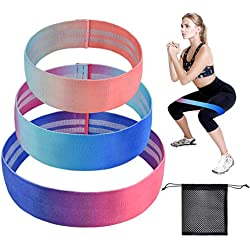 BACKTURE Bandas de Resistencia, Conjunto de 3 Bandas de Ejercicios de Caderas y piernas, para Yoga Pilates Crossfit Entrenamiento de Fuerza (A)