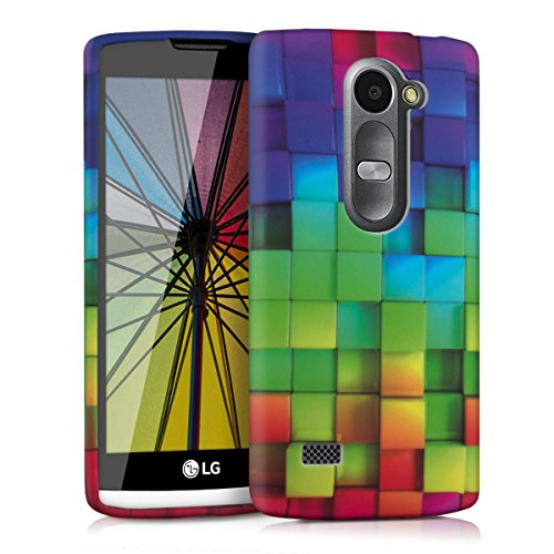 kwmobile LG Leon 3G/4G Hülle - Handyhülle für LG Leon 3G/4G - Handy Case in Mehrfarbig Grün Blau