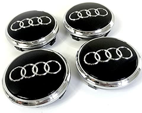 Set of 4 Alloy Wheels Center Caps Chrome Covers Black Ring Badge 77 mm 4L0 601 170 Audi Q5 Q7 4L0601170 S-Line Quattro and other models Fits Set of Four Alloy Wheels Centre Hub Caps Cover Black Chrome Badge 77 mm 4L0 601 170 Fits Audi Q5 Q7 S-line Quattro and other models 4L0 601 170