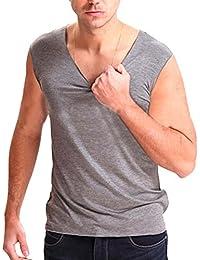 9842acfc074126 GladiolusA Unterhemden Tank Top Für Herren Unterhemd Muskelshirt V- Ausschnitt Tanktop Unterziehshirt Große…