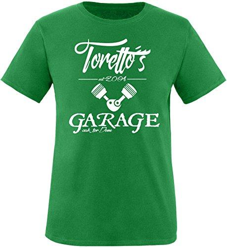 EZYshirt® Toretto´s Garage Herren Rundhals T-Shirt Grün/Weiss
