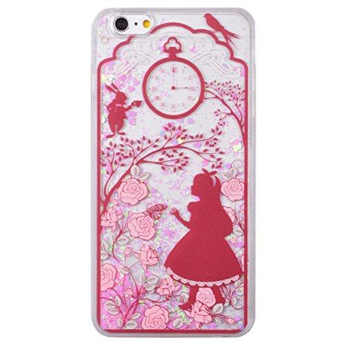 Voguecase® für Apple iPhone 6 Plus / 6s Plus (5,5 Zoll) , Flüssig Fließen (Harte Rückseite) Hybrid Hülle Schutzhülle Case Cover (Weinglas) + Gratis Universal Eingabestift Rot-Kleid-Mädchen