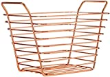 Premier Housewares Shine Wire Basket, Rose Gold, Small