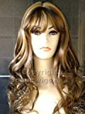 Forever Young Long Chocolate Brown and Honey Blonde Number 12B/149B Ladies Wavy Style Hi-Light Fashion Wig