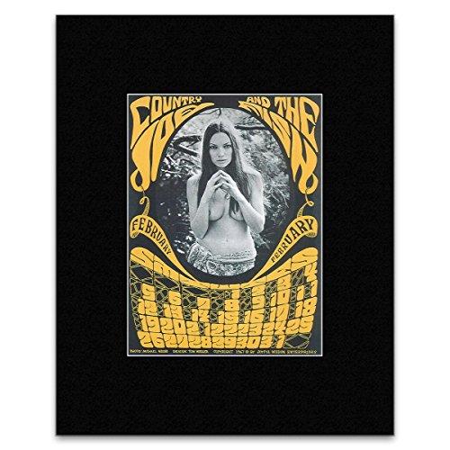 Country Joe und der Fisch–Februar Kalender Berkeley 1967Mini Poster–30,3x 25,4cm