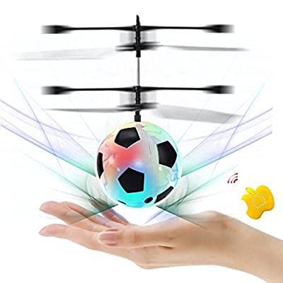 SZSMART RC Flying Ball Kid Boy Toys Infrared Induction Helicopter Ball with Rainbow Shinning LED Lights Remote Control Colorful Flyings ?Random Color? by SZSMART
