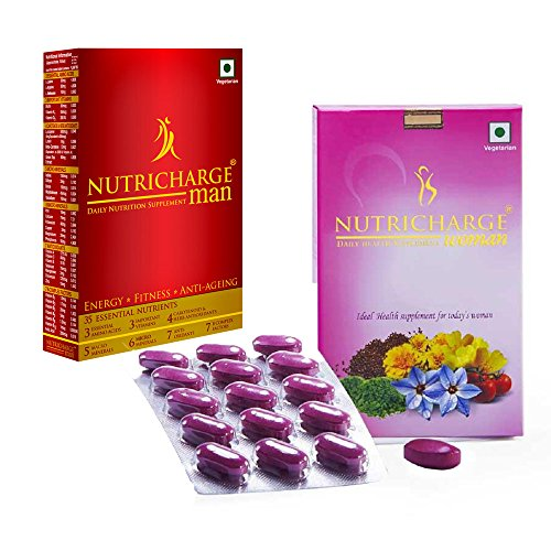 Nutricharge Combo Pack Multivitamin Multimineral Supplement For Man & Woman