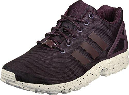 Adidas Zx Flux, Scarpe da Ginnastica Basse Uomo, Marrone (Maroon/Maroon/Cwhite), 43 1/3 EU