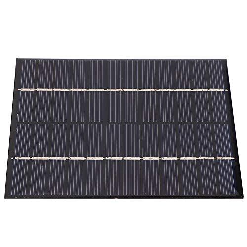 Alomejor Sonnenkollektoren 2W 12V Portable Power Solar Panel Batterieladegerät Wasserdichter externer Batteriesatz zum Aufladen der Batterie