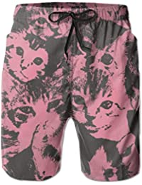 ZKHTO Men s Hide Cute Cat Lightweight Quick Dry Swim Trunks 0b281c52b07