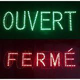cablematic panneau message led displaymatic ouvert ou ferm avec rouge et vert. Black Bedroom Furniture Sets. Home Design Ideas