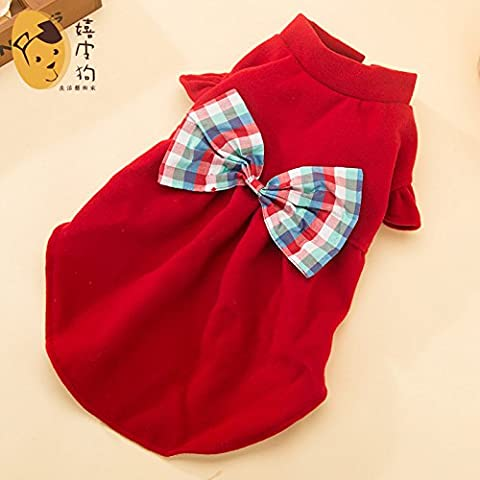 YU-K Cani abbigliamento abbigliamento piccolo cane mezzo abbigliamento abbigliamento cane cane grande bow tie , abbigliamento red serie L