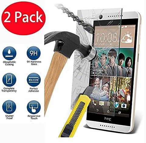 2 Pack - HTC Desire 626 Verre Trempé, Vitre Protection