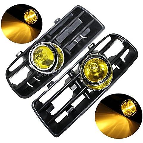 akimgo (TM) 1paio Car Giallo anteriore inferiore Griglia LED nebbia luce + On/Off + relè + cablaggio per Golf GTI/TDI MK41998–2004 - Golf Relè