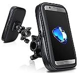 Demarkt Support Téléphone étanche Pluie Portable Vélo Moto Rotatif à 360 Bracelet Taille Réglable Compatible Avec Pour iPhone 6S 7S Plus Samsung Galaxy S7 S8 Edge Huawei Etc XL 1PC