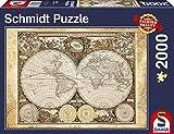 Schmidt - Mappamondo Storico Puzzle, 2000 Pezzi