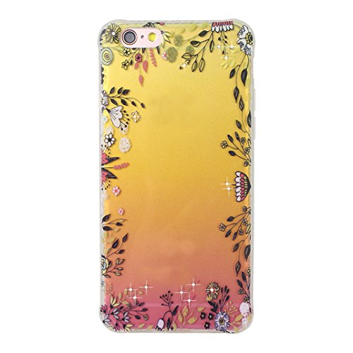 Souple Housse iPhone 6 Plus Transparent, Etui iPhone 6S Plus TPU, Coque iPhone 6 Plus Silicone Case, Moon mood® Soft Gel TPU Bumpour Case Cover pour Apple iPhone 6S Plus Protection Housse Coquette Gel Style-9
