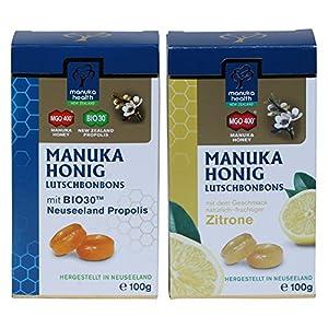 Manuka Honig Lutschbonbons Doppelpack – Zitrone und Propolis (2x 100g)