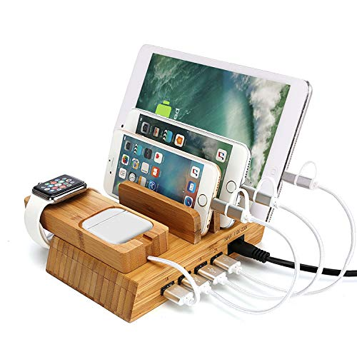 Lucy Day Multi-Port Bamboo Tablet Ladeständer for