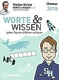 Stefan Heine: Worte & Wissen 2018 - Tagesabreißkalender, Rätselkalender, Logik und Wissen  -  11,8 x 15,9 cm