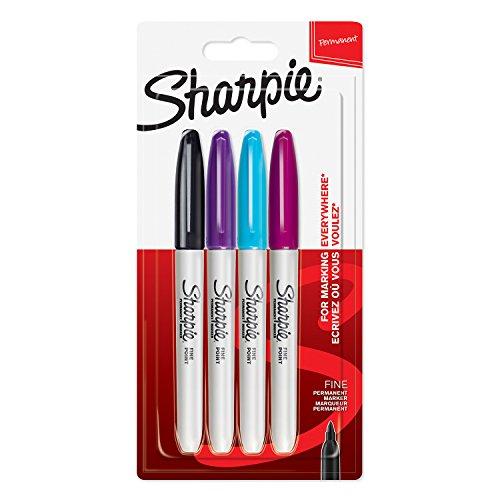 sharpie-permanent-marker-feine-spitze-farblich-sortiert-4-stuck