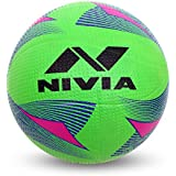 Nivia Rotator Moulded Rubber Volleyball, Adult Size 4 (Green)