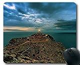 Genähte Kanten Mauspads, Leuchtturm der Träume Mauspad