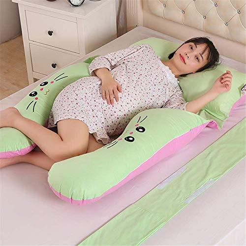 Mutterschaft Schlaf Kissen (Frauen Schwangerschaft Kissen Bettwäsche Ganzkörper Kissen für Schwangere Gute Schlaf U-Form Kissen Lange Seite Komfortable Mutterschaft Kissen)
