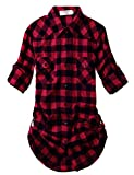Match Damen Flanell Kariert Shirt #B003(2021 Checks#1,XX-Large(Fit 43''-45''))
