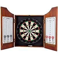 TG Beveled Wood Dart Cabinet - Pro Style Board and Darts