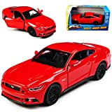 alles-meine.de GmbH Ford Mustang VI Coupe Rot Ab 2014 mit Rückzugsmotor ca 1/43 1/36-1/46 Maisto Modell Auto