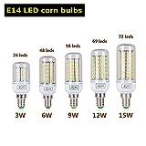 HUPLUE LED-Glühbirnen E27/E14/B22/G9, in 3 W, 6 W, 9 W, 12 W, 15 W verfügbar, SMD 5730, Röhrenform, 10er-Pack, e14, E14, 15.0W