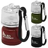 Mini LED Laterne Lampen Taschenlampe mit Karabiner für Camping Wandern Notfall Backpacking