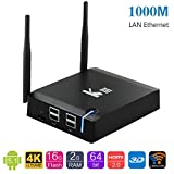 AKASO KIII 4K Android 5.1 TV Box , Kodi Totalmente Equipada, 2G+16G , 64 Bits S905 Quad Core, 1000M LAN , Dual Band Wifi , Bluetooth 4.0 , HDMI 2.0 , 4 USB Ports Media Box