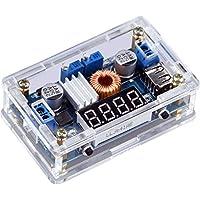 Yeeco DC DC Secchio Voltaggio Regolatore Energia Converter Fornitura Costante Di Tensione e Corrente Volt & Amp Convertitori Regolabile 5-36V a 1.25-32V Scendere 5A 75W LED Display Autista Voltometro USB Produzione