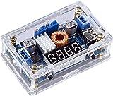 Yeeco DC DC Netzteile Buck Spannungsregler Power Converter Constant Voltzahl & Strom Volt-Ampere-Wandler Einstellbar 7-36V um 1.25-32V Step Down 5A 75W LED-Treiber LED-Voltmeter-Anzeige USB-Ausgang