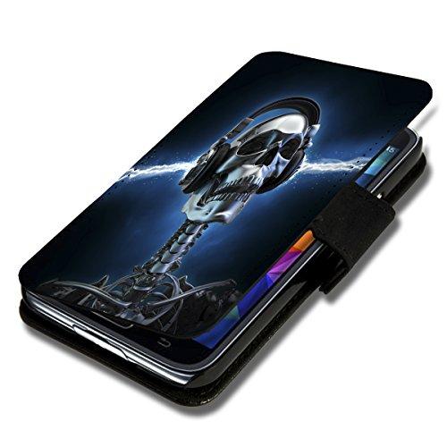 Book Style Flip Handy Tasche Case Schutz Hülle Schale Motiv Etui für Huawei Ascend G525 - A40 Design1