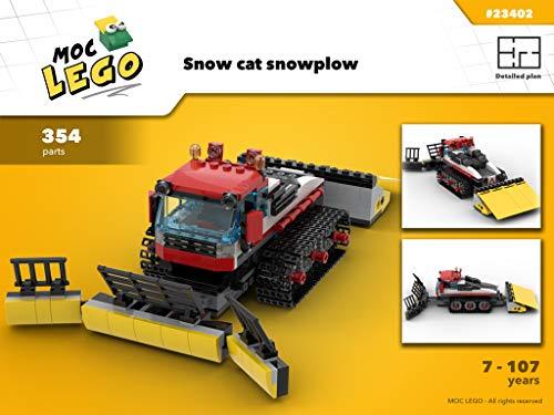 Snow cat sowplow (Instruction Only): MOC LEGO (English Edition) Ski-moc