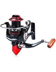 GBlife LK3000 Moulinet Pêche Aluminum 12+1 BB Roulement à billes avec Haute Vitesse 5.2:1