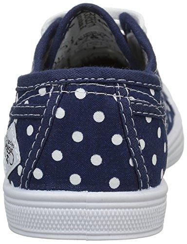 Le Temps des Cerises Lc Basic 02, Baskets mode mixte enfant Bleu (Dot Navy)