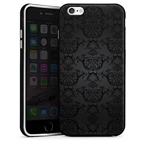 Apple iPhone 6 Hülle Silikon Case Schutz Cover Ornamente Gothic Retro Silikon Case schwarz / weiß