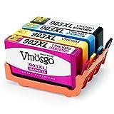 Vmosgo Remanufacturéd 903XL Remplacer pour HP 903 903XL Cartouches d'encre Grande Capacité Compatible avec HP OfficeJet Pro 6950 6960 6970 6860 6868 6975 6978 (1 Noir,1 Cyan,1 Magenta,1 Jaune)