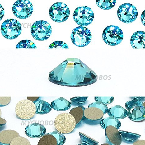 Zipperstop Light Turquoise (263) Green Teal Swarovski New 2088 XIRIUS Rose 20ss 5mm Flatback No-Hotfix Rhinestones ss20 144 pcs (1 Gross) from Mychobos (Crystal-Wholesale)* -