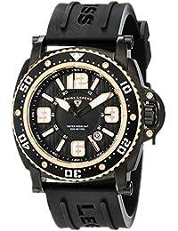 SWISS LEGEND 11503-BB-01-RA - Reloj para hombres, correa de goma color negro