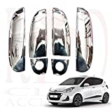 RedClub Presents Autokrome Chrome Plated Door Handles/ Catch Covers for Hyundai i10 with Fuel Tank Lid Sticker & a RedClub Pen