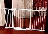 1m Erhöhte Baby-Sicherheitstür Ausziehbares Baby-Tor-einziehbares Treppen-Tor Oberseite Der Treppen-Baby-Tor-Weiß (größe : 107-113cm)